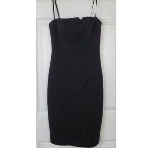 David Meister textured strapless dress size 4